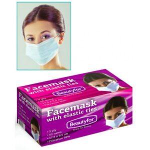 Zaštitna maska za lice, troslojne 50 kom.