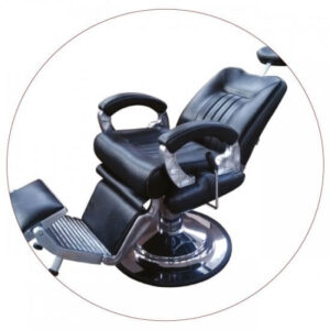 Hydraulic barber chair in black unit 8771-1 crna
