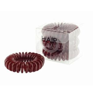 Spiralne gumice za kosu smeđe 3 kom