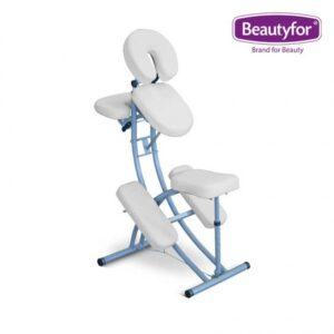 Prijenosni aluminijski masažni stolac bijela