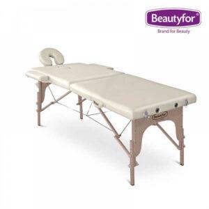 Prijenosni masažni ležaj 2 zone bež