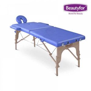 Prijenosni masažni ležaj 2 zone plavi