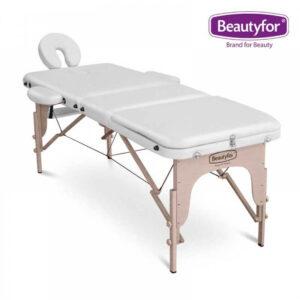 Prijenosni masažni ležaj 3 zone bijeli