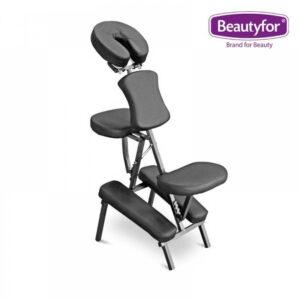 Prijenosni aluminijski masažni stolac crni