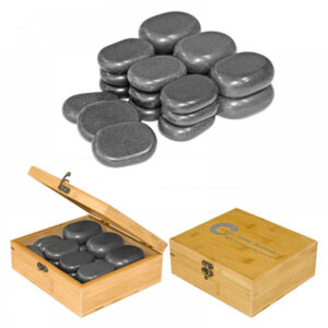 Set od 18 balsatnih kamenja za hot stone masažu