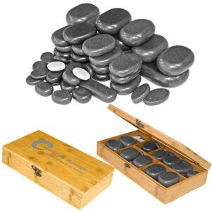 Set od 45 balsatnih kamenja za hot stone masažu