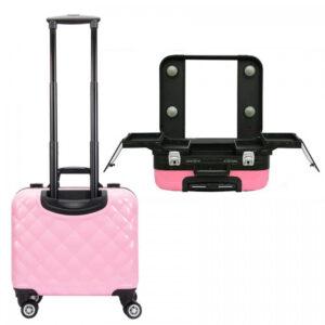Profesionalni kofer za make up KC-210 rozi